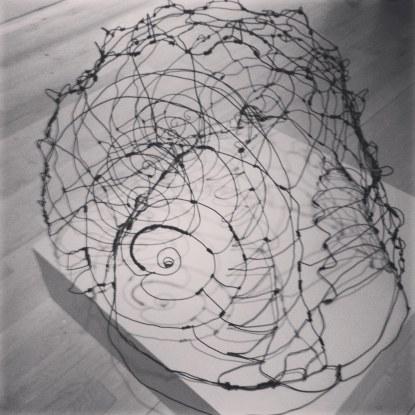 """Queen Conch"", Wire, 28""x28""x28"""