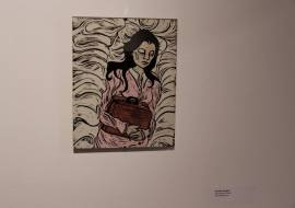 """""""Searching for home""""- woodblock print woodblock print 8x10"""""""