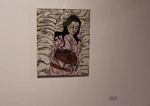 """Searching for home""- woodblock print woodblock print 8x10"""