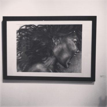 """""""The Scream"""", Charcoal, 22x30"""", 2014"""