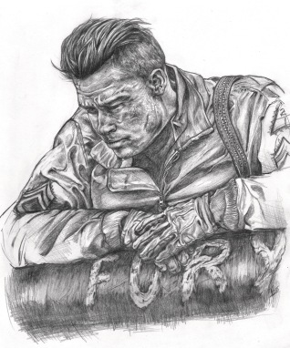 """Wardaddy"", Graphite, 8x10"", 2015"