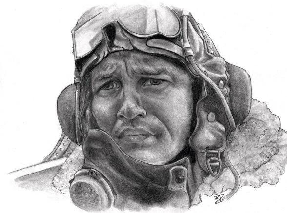 """Pilot Farrier"", Graphite, 8x10"", 2017"