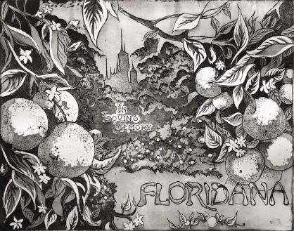 """Floridana"" Intaglio etching, 8x10"", 2018"