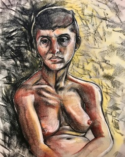 """Sarah"", charcoal and pastel, 18x22"", 11/02/18"